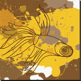 Yellow-Brown Fish Stretched Canvas Print by Irena Orlov