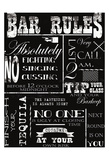 Bar Rules Prints by Taylor Greene