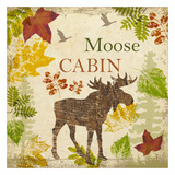 Moose Cabin Art by Taylor Greene