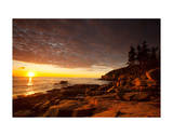 Daybreak on the Maine Coast Giclee Print by Michael Hudson