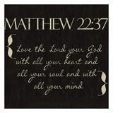 Matthew 22-37 Plakater af Taylor Greene