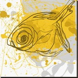 Yellow Fish Stretched Canvas Print by Irena Orlov