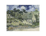 Thatched Cottages in Cordeville Giclee Print by Vincent van Gogh