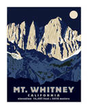 Mt. Whitney (Night) Lmina gicle por Steve Forney
