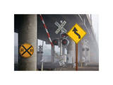 Railroad Crossing Giclee Print by David Winston