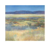 Summer Fields with Mountains Giclee Print by Jeannie Sellmer