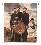 Bottom of the Sixth Wall Tapestry by Norman Rockwell