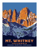 Mt. Whitney (Day) Giclee Print by Steve Forney