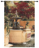 Tranquil Fountain Wall Tapestry