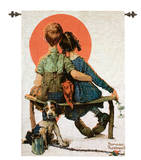 Spooners Wall Tapestry by Norman Rockwell