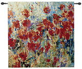Red Poppy Field II Wall Tapestry