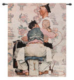 Tattoo Artist Wall Tapestry by Norman Rockwell