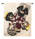 Bridge Game Wall Tapestry by Norman Rockwell