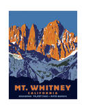 Mt. Whitney (Day) Reproduction proc&#233;d&#233; gicl&#233;e par Steve Forney