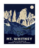 Mt. Whitney (Night) Reproduction procédé giclée par Steve Forney