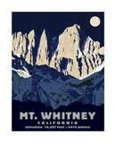 Mt. Whitney (Night) Giclée-tryk af Steve Forney