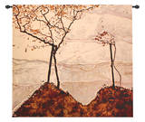 Autumn Sun and Trees Wall Tapestry