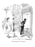 """Thank God I'm not an individual!"" - New Yorker Cartoon Premium Giclee Print by Rowland Wilson"
