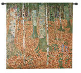 Birch Forest Wall Tapestry by Gustav Klimt