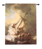 The Storm on the Sea of Galilee Wall Tapestry by  Rembrandt van Rijn