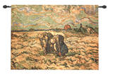 Two Peasant Women Wall Tapestry by Vincent van Gogh