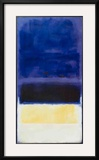 Untitled (Blue, Dark Blue, Yellow) Prints by Mark Rothko