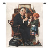 Doctor and the Doll Wall Tapestry by Norman Rockwell