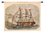 Antique Clipper Ship I Wall Tapestry