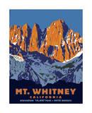 Mt. Whitney (Day) Giclée-tryk af Steve Forney