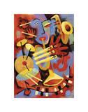 Jazz Player Giclée-tryk af Jim Dryden