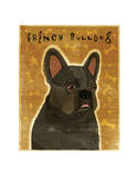 French Bulldog (Black) Giclee Print by John Golden