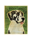 Great Dane (Harlequin, no crop) Giclee Print by John Golden