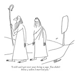 """I still can't get over your being a sage. You didn't know beans when I ma…"" - New Yorker Cartoon Premium Giclee Print by John Corcoran"