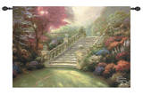Stairway to Paradise Wall Tapestry by Thomas Kinkade
