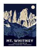 Mt. Whitney (Night) Giclee Print by Steve Forney