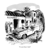 """Es usted Diners' Club"" - New Yorker Cartoon Premium Giclee Print by Barney Tobey"