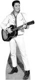 Elvis B&W White Jacket Music Lifesize Standup Cardboard Cutouts