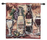 Wine and Cheese Wall Tapestry
