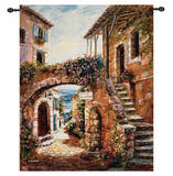 Walk Back in Time Wall Tapestry