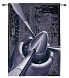 Vintage Plane Wall Tapestry