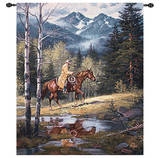 Springtime in the Rockies Wall Tapestry
