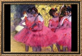 Dancers in Pink Between the Scenes Posters by Edgar Degas