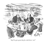 """Say! I've got a great idea for a dark horse—me!"" - New Yorker Cartoon Premium Giclee Print by James Mulligan"