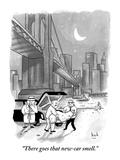 """There goes that new-car smell."" - New Yorker Cartoon Premium Giclee Print by Bob Eckstein"