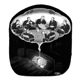 Man has a nightmare of many David Susskinds seated around a discussion tab… - New Yorker Cartoon Premium Giclee Print by C.E. O'Glass
