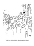 """Come now, folks, this baby must belong to one of you."" - New Yorker Cartoon Premium Giclee Print by Gardner Rea"
