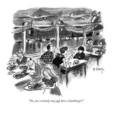 """No, you certainly may not have a hamburger!"" - New Yorker Cartoon Premium Giclee Print by Barney Tobey"