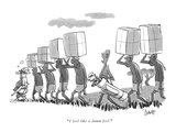"""I feel like a damn fool."" - New Yorker Cartoon Premium Giclee Print by Claude Smith"