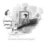 """I've noticed this one before. He seems to be very tidy."" - New Yorker Cartoon Premium Giclee Print by Perry Barlow"