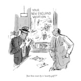 """Just how near by is 'nearby golf'"" - New Yorker Cartoon Premium Giclee Print by Perry Barlow"